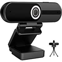 Webcam 4K HD Computer Camera 8MP Microphone PC Web Camera, Full Widescreen Laptop USB Webcams, Privacy Shutter, Tripod…
