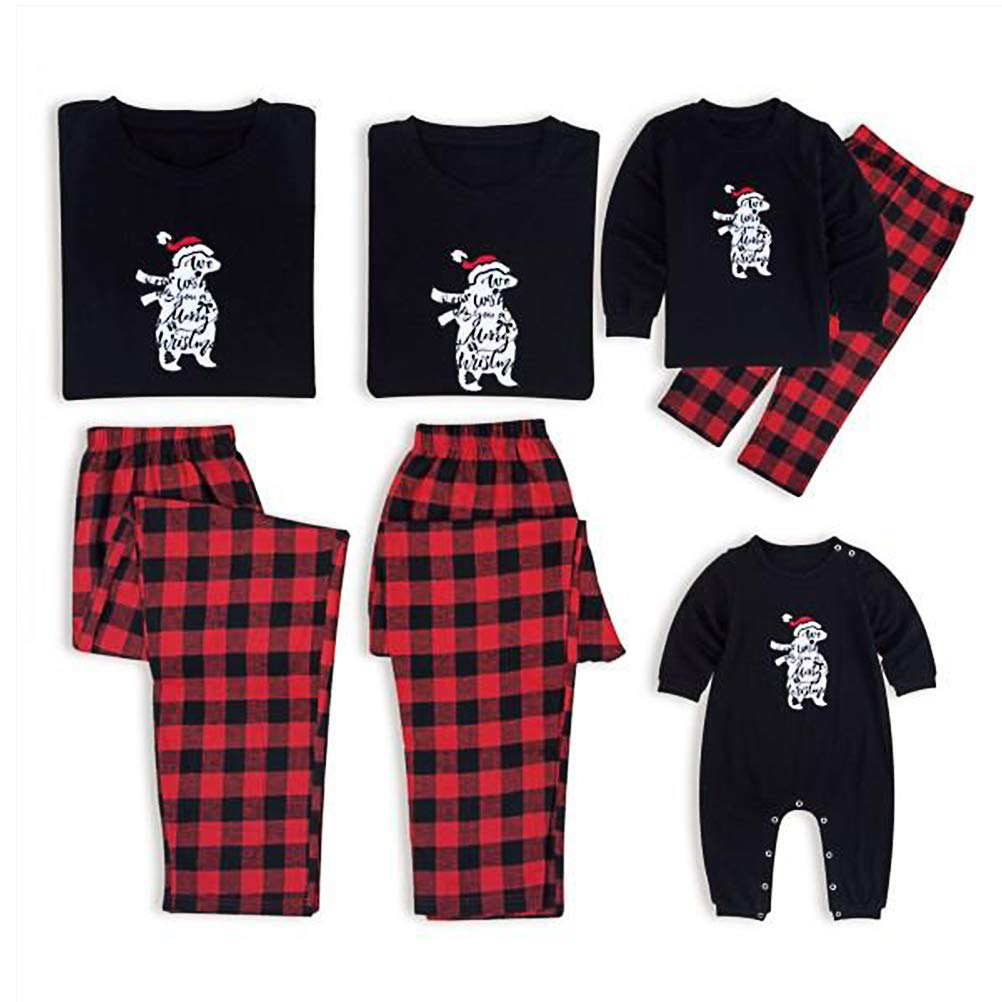Zhhlinyuan Xmas Family Matching Clothes Outfits Pjs for Christmas Spring Autumn