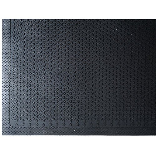 Andersen 545 Safety Scrape Nitrile Rubber Entrance Indoor/Outdoor Floor Mat, 6' Length x 4' Width, 1/8'' Thick, Black by The Andersen Company