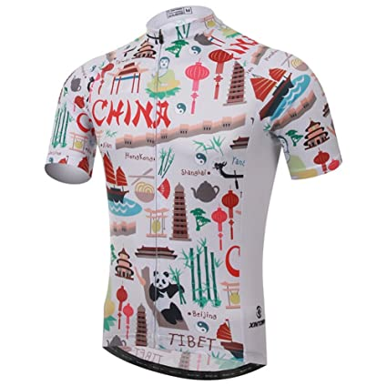 Xinzechen Outdoor Cycling Sports Breathable Short Sleeve Bicycle Jersey  Ancient China Size S 2cfbf5335