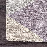 nuLOOM Bianca Triangles Wool Area Rug, 5' x 8', Green