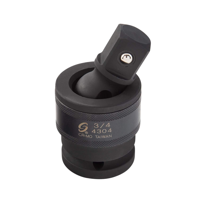 Sunex 4304, 3/4 Inch Drive, Universal Impact Joint, Cr-Mo Steel, Radius Corner Design, Flexible, Meets ANSI Standards by Sunex Tools