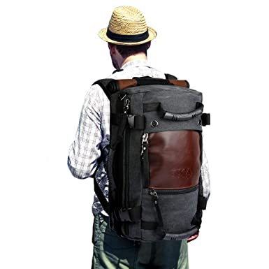 90fc4778de OXA Duffel Bag Travel Canvas Backpack for Men