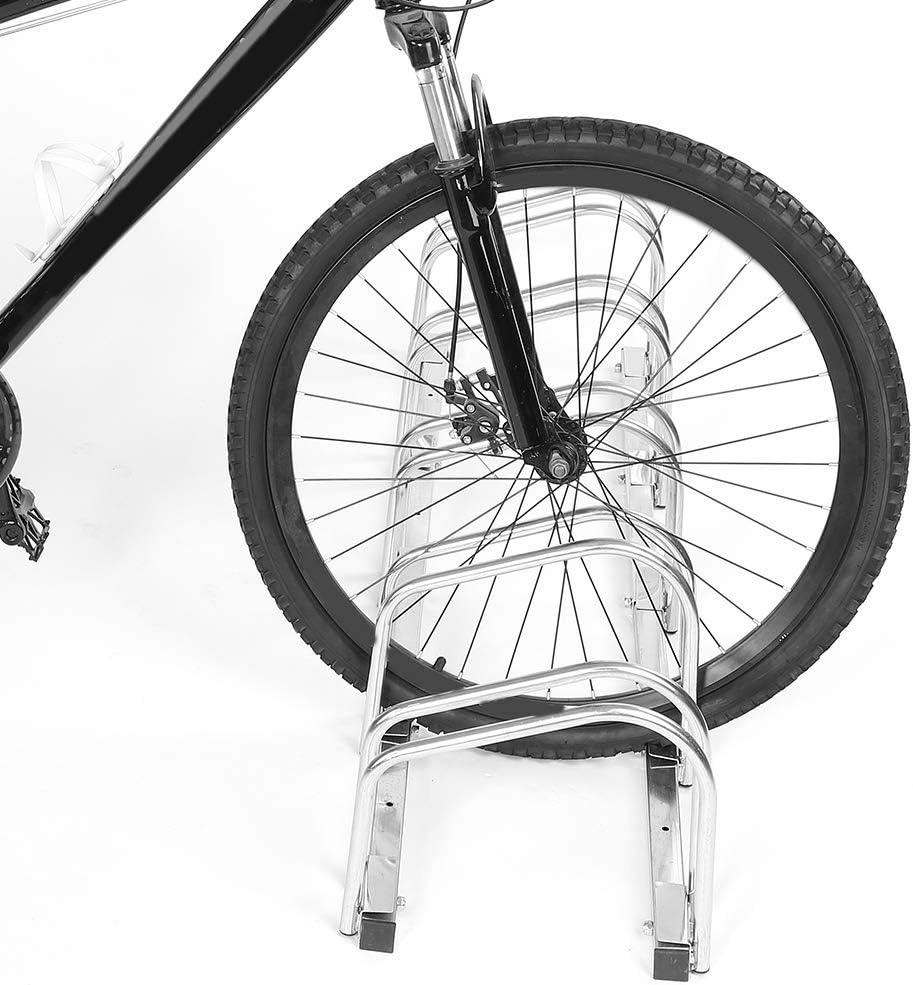 5 Ranuras para Almacenamiento de Bicicletas Soporte para exhibici/ón Ejoyous Soporte para estacionamiento de Bicicletas para Bicicletas estacionamiento al Aire Libre para jard/ín estacionamiento