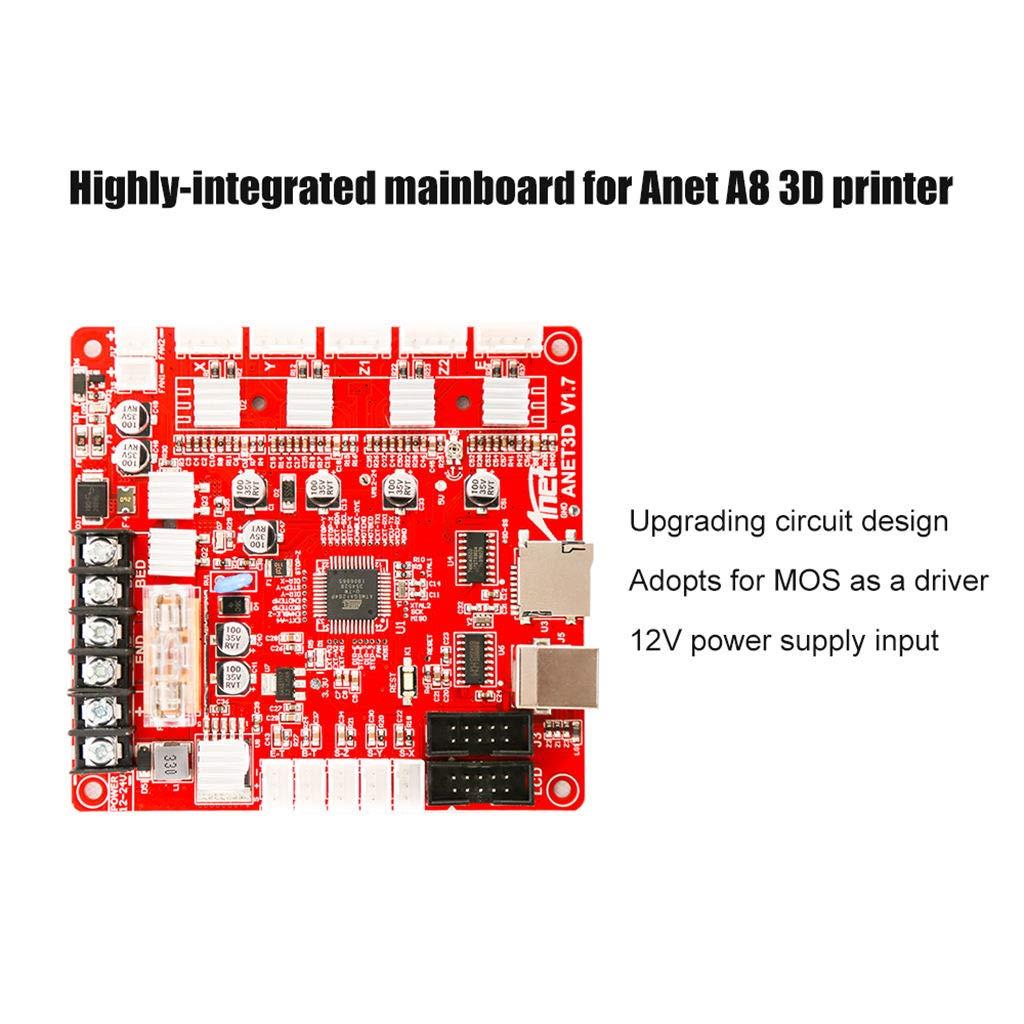 SODIAL V1.7 Scheda Madre Scheda Madre per Scheda Madre Anet A8 DIY Kit Stampante Desktop 3D per Montaggio Autonomo