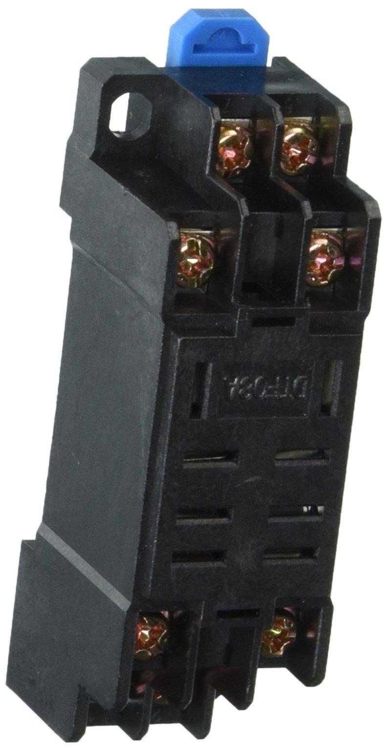 5 Pcs 35mm DIN Rail Mount DYF08A 8Pin Relay Socket Base for MY2-J