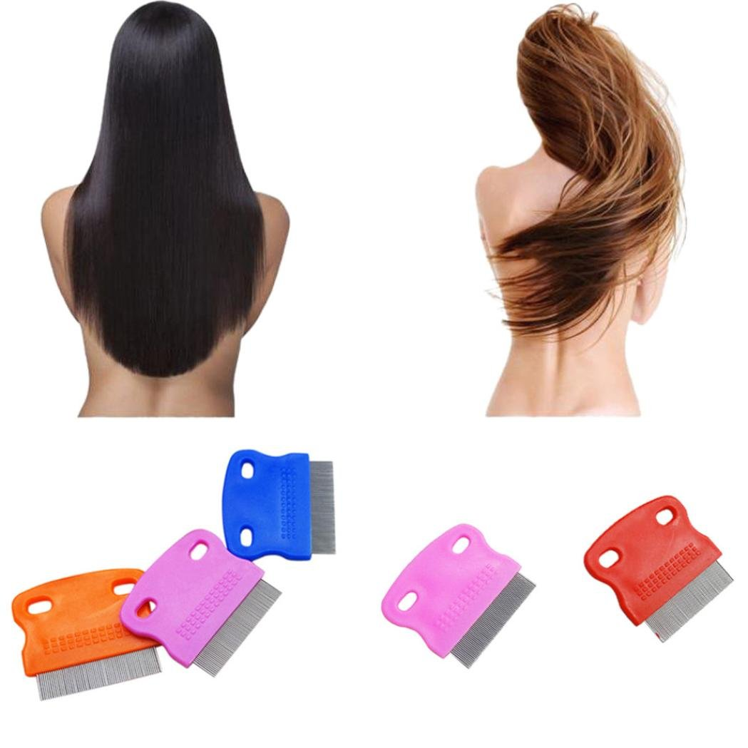 Xiaosan Terminator Lice Comb Brushes Hair Rid Headlice Stainless Steel Metal Teet (A) by Xiaosan (Image #1)