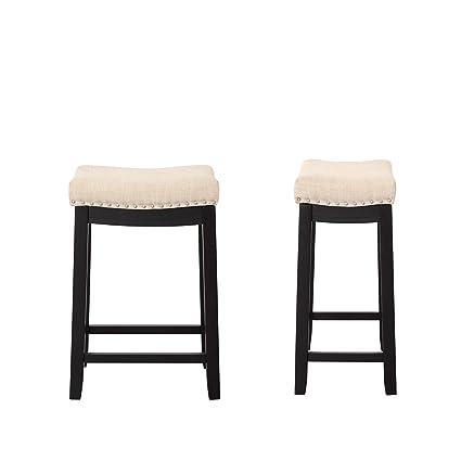 Fine Amazon Com Tenozek Kitchen Backless Linen Counter Height Creativecarmelina Interior Chair Design Creativecarmelinacom