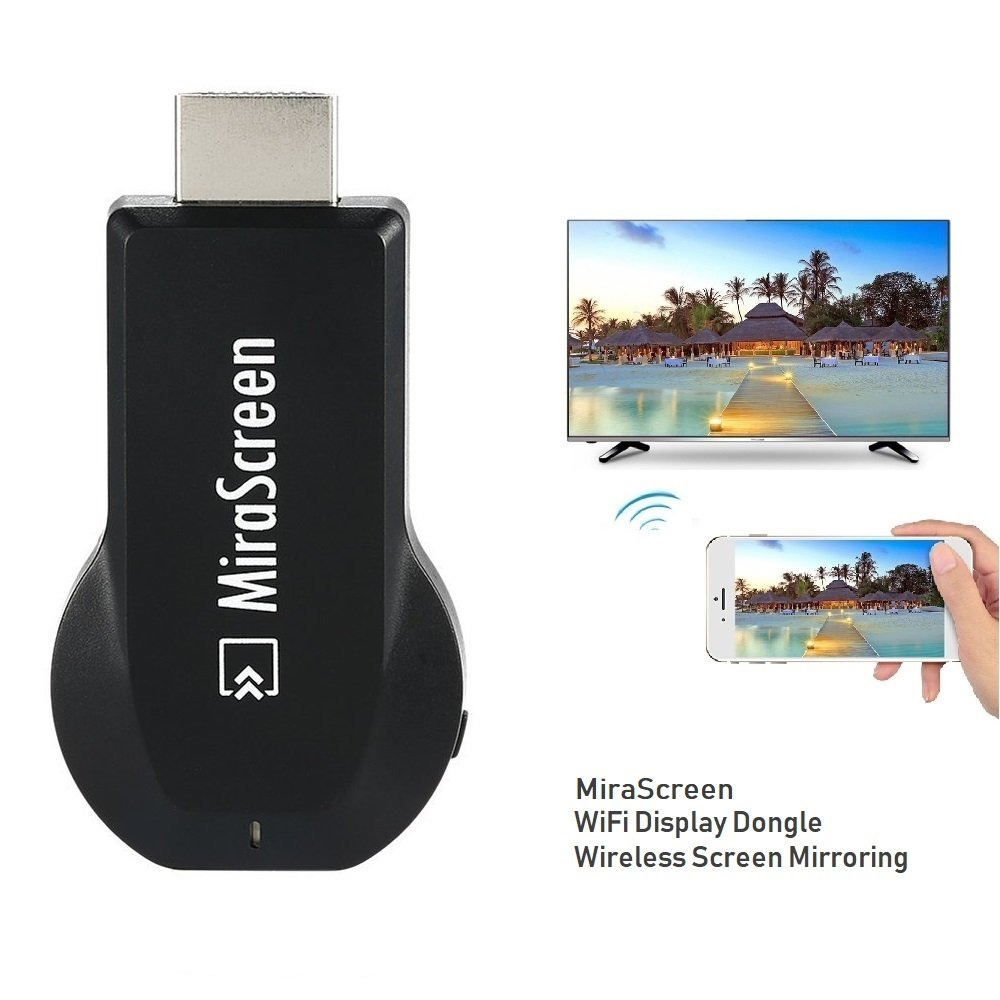 SmartSee MiraScreen Dongle Wireless HDMI Display Adapter HDMI TV Stick Screen Mirroring for Tablet Smartphone