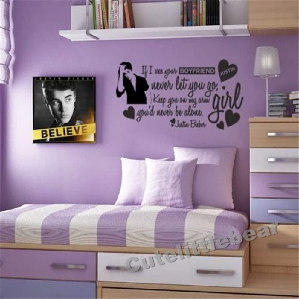 haochenli188 Justin Bieber Moda Pegatinas de Pared decoración del ...