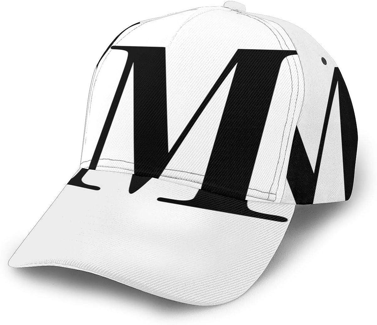 Liliylove Letra M Monograma Inicial Ajustable Gorra De Béisbol ...