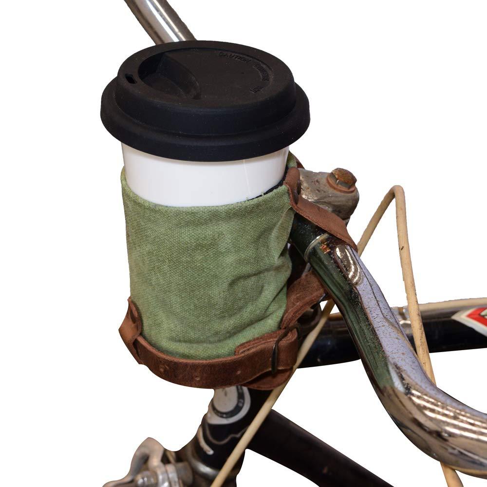 Hide & Drinkのクルージークージーハンドメイドレザー自転車カップホルダー (ワックスキャンバス)   B016CLIFCK