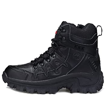 SHANLY Desierto De Los Hombres Zapatos Militares Tactical Boots Lace Up/Side Zip Combat Boot
