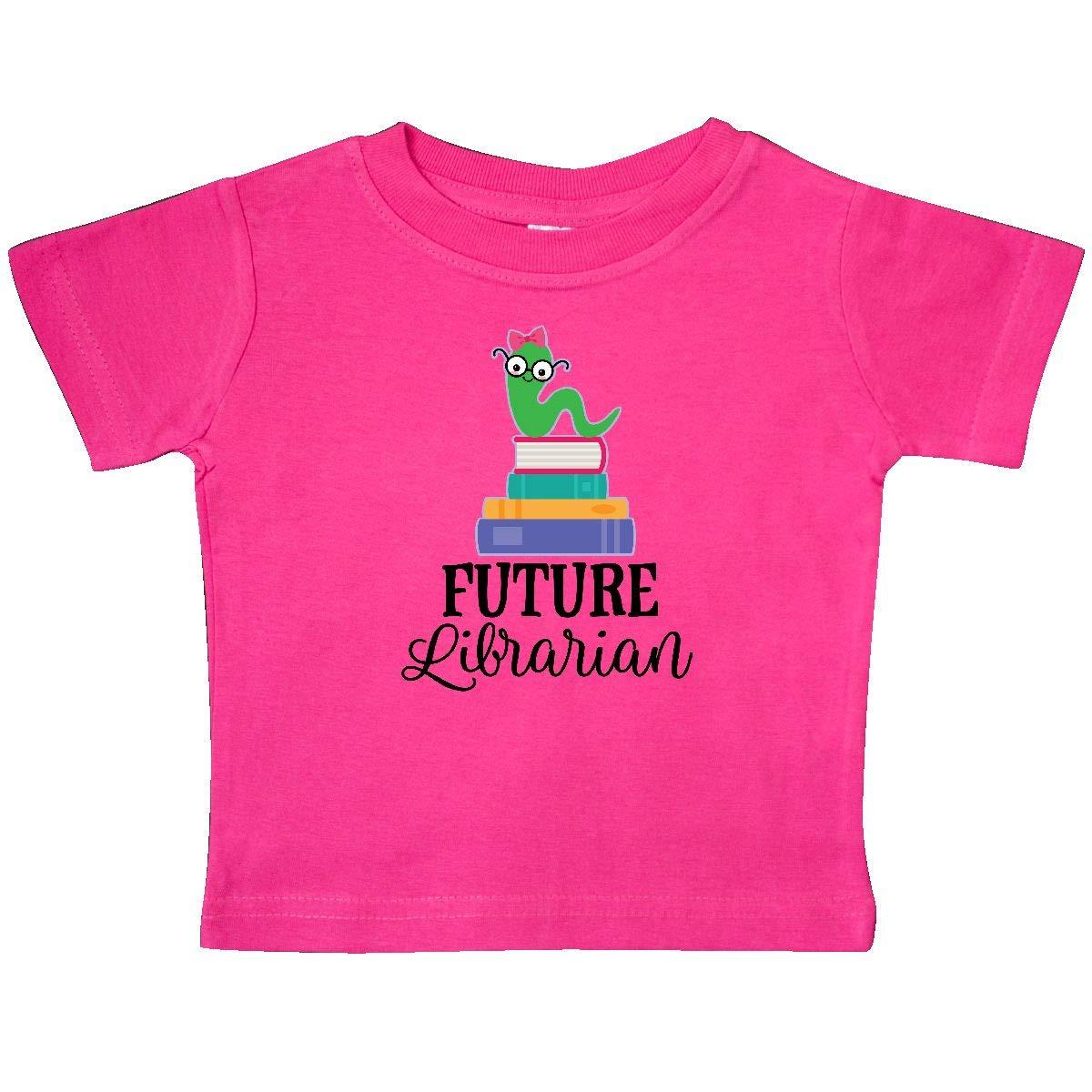 inktastic Future Librarian Girls Reading Job Baby T-Shirt