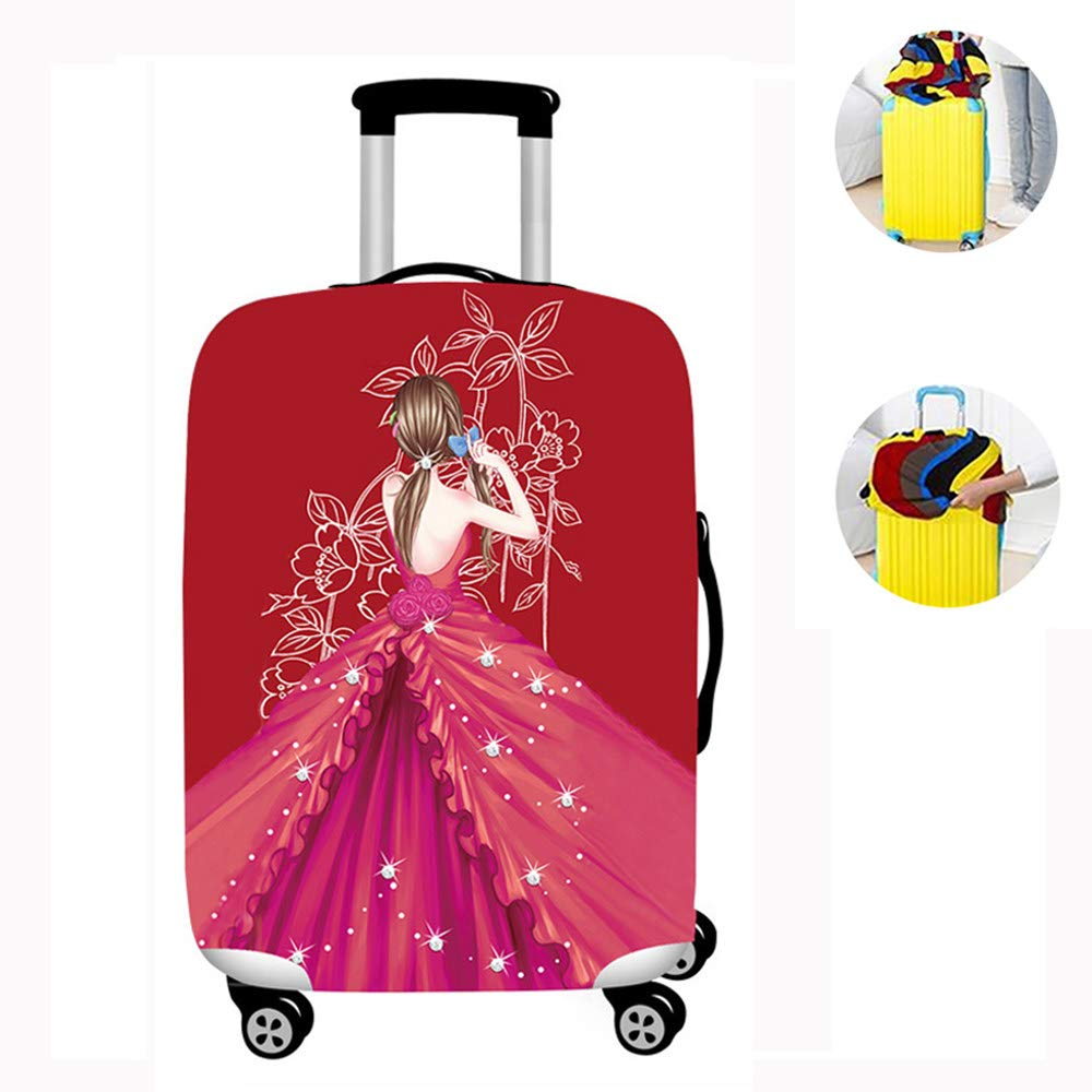 Stylish suitcase cover,C-M Luggage Cover Protector Polyester Durable for girls Cartoon cute pattern suitcase covers protectors Washable Polyester Travel Suitcase Protector Dustproof