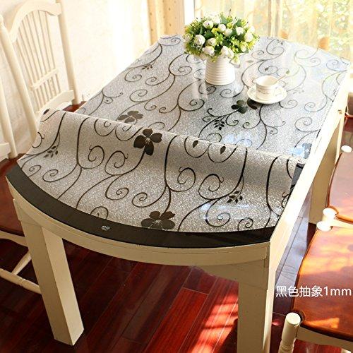 HL-PYL-tavolo ovale in Pvc tovaglia impermeabile, Soft tovaglia in vetro, tovaglie, Tè Mat e telo di plastica,C-1.0mm,80x130cm rettangolo