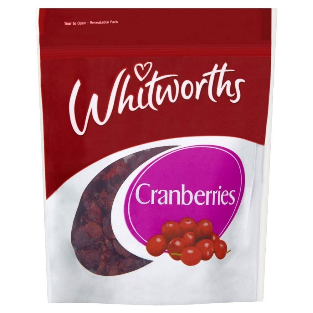 Whitworths Sweetened Cranberries (150g) - Pack of 2