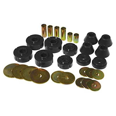 Prothane 7-102-BL Black Body and Standard Cab Mount Bushing Kit - 12 Piece: Automotive