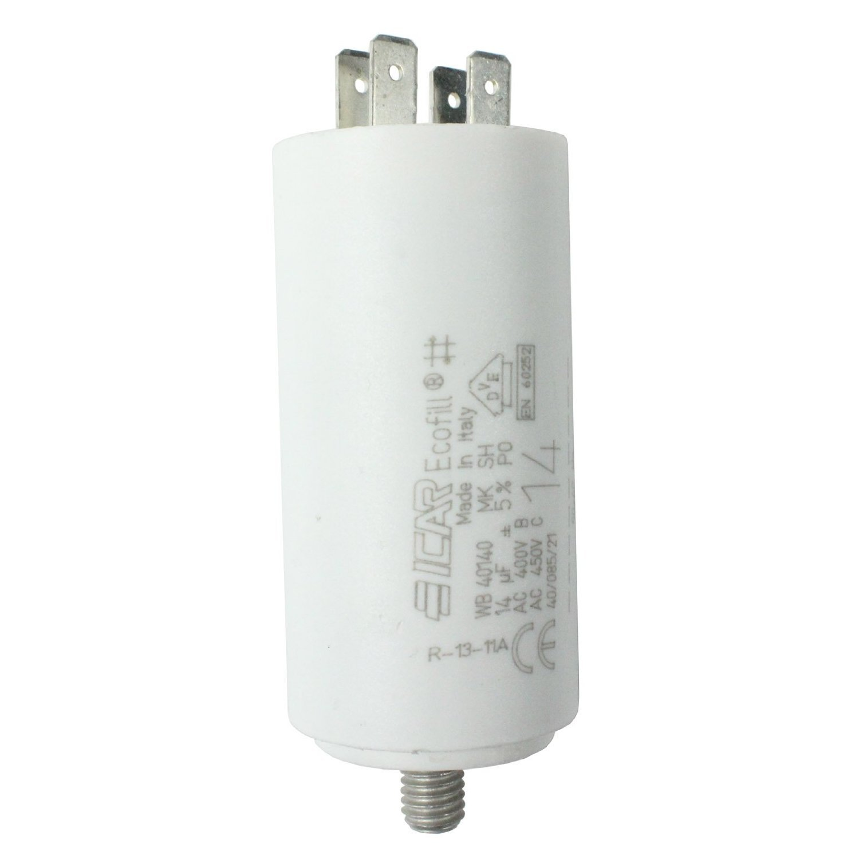 Spares2go Inicio Ejecutar Motor Condensadores para Smeg aparatos Microfarad 5UF a 80uF Spade Conector/etiquetas, 5UF