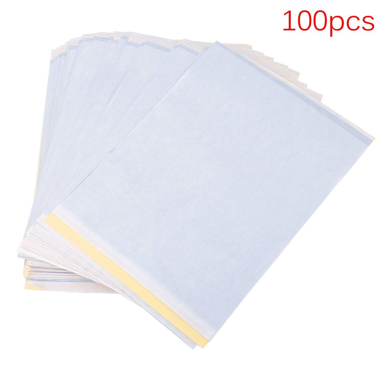 100 Sheets A4 Size Tattoo Carbon Thermal Tracing Copy Stencil Body Transfer Paper Copier Tattoo Accessory
