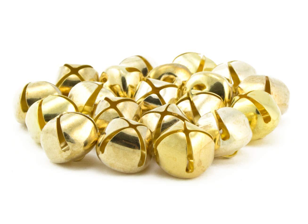 0.75 inch 20mm Gold Small Craft Jingle Bells Bulk 120 Pieces