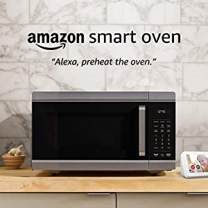 Amazon Smart Oven, a Certified for Humans device – plus Echo Show 5 (Sandstone)