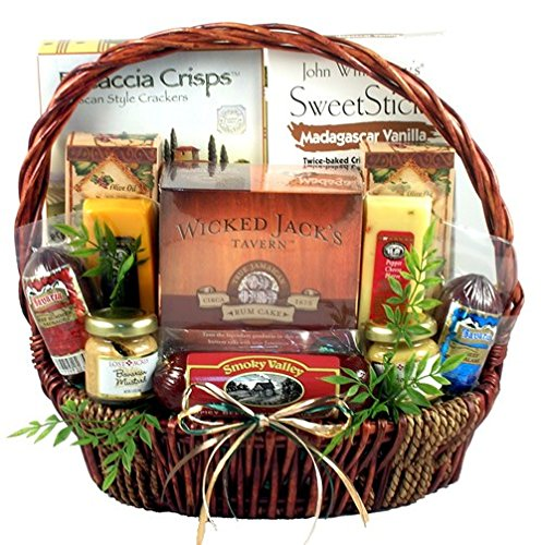 The Gourmet Gentleman Elegant Gourmet Gift Basket for Men | Birthday Gift or Christmas Gift Basket