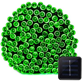 Vmanoo Solar Powered Christmas String Lights 100 LED 8 Modes Fairy Xmas Lighting For Outdoor, Indoor, Patio, Garden Tree, Wedding, Homes, Curtain, Valentine's Day Decorations(Green)