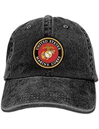 United States Marine Corps Adjustable Vintage Washed Denim Baseball Cap Dad Hat