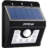 Mpow 8 LED センサーライト ソーラーライト 防犯ライト 3-in-1 玄関ライト ワイヤレス人感センサー 外灯 壁掛け式 太陽発電 省エネ 屋外照明/軒先/駐車場/庭先/玄関周りなど対応 夜間自動点灯 (改良版)- MSL5