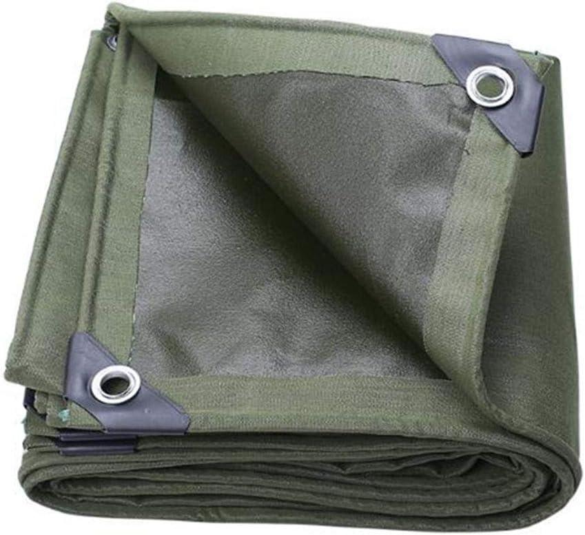 DALL ターポリンヘビーデューティ防水タープ厚く耐摩耗性雨高密度の日焼け止め布 (Color : 緑, Size : 2×6m) 緑 2×6m