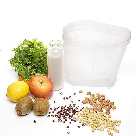 Compra BESTONZON Bolsa Filtro de Leche Vegetal Reutilizable de Nilón Malla Filtro de Alimentos para Leche de Nuez Zumos y Batidos de Frutas y Verduras ...