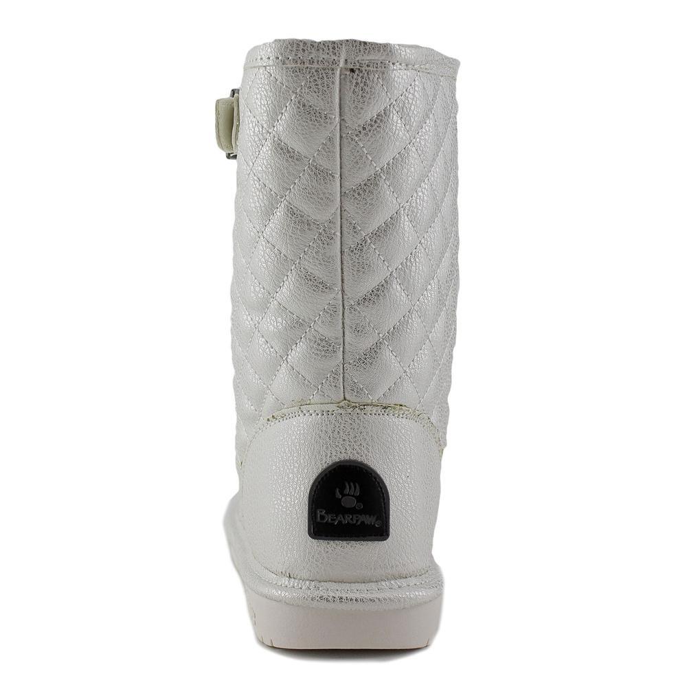 Bearpaw Leigh Anne Women Round Toe Suede Brown Winter Boot B00WM2P4FU 8 B(M) US White Metallic