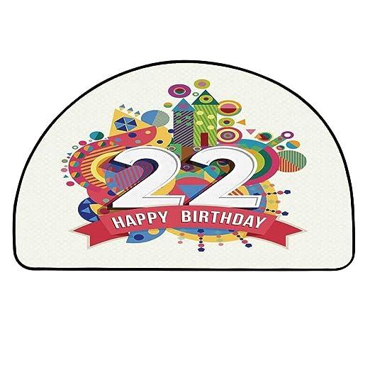 YOLIYANA 22 cumpleaños Decoraciones semicírculo, celebre ...