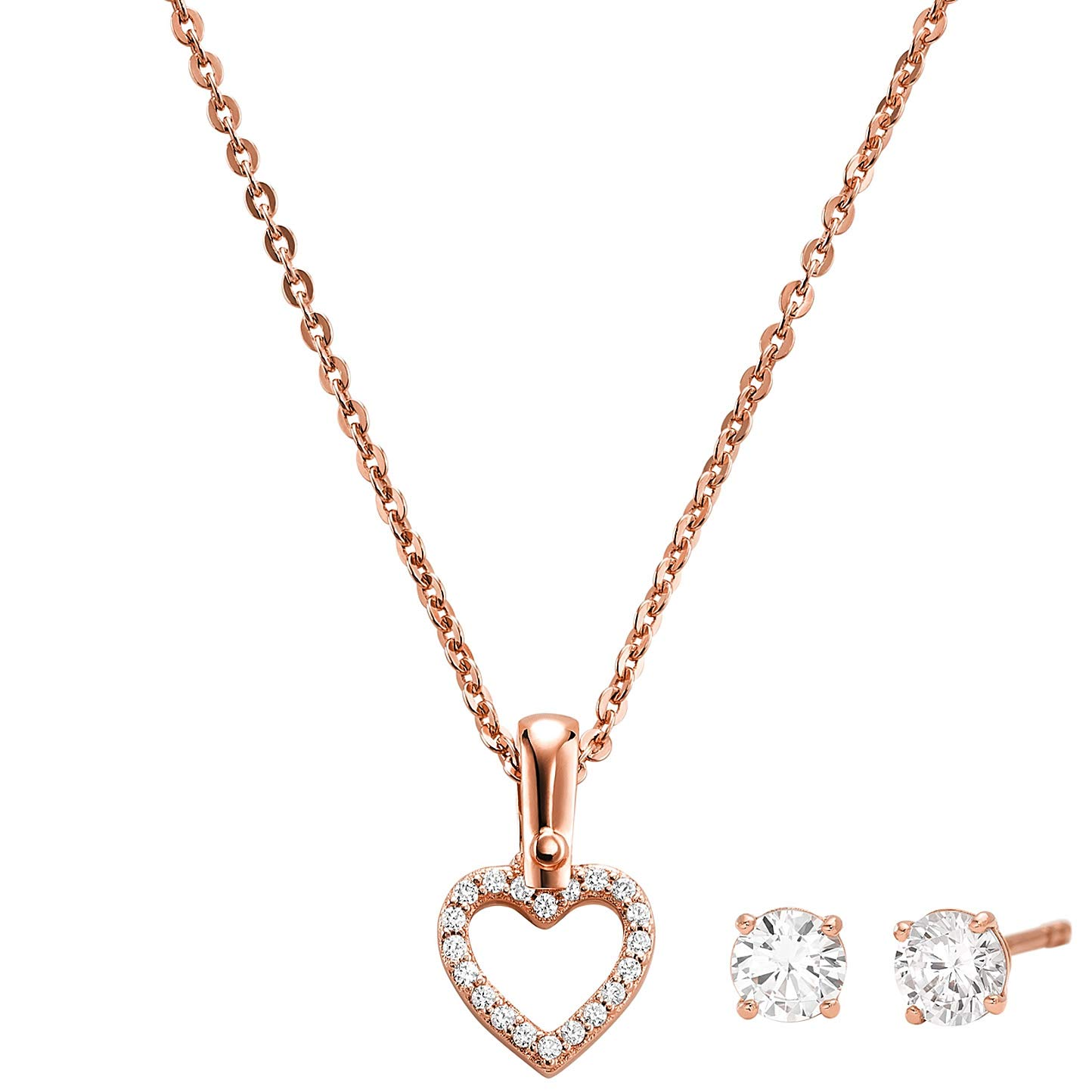 100% quality available release date: Michael Kors Jewellery Set Necklace and Earrings Heart ...