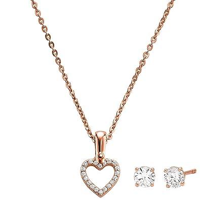 Michael Kors Schmuckset Halskette und Ohrringe Herz
