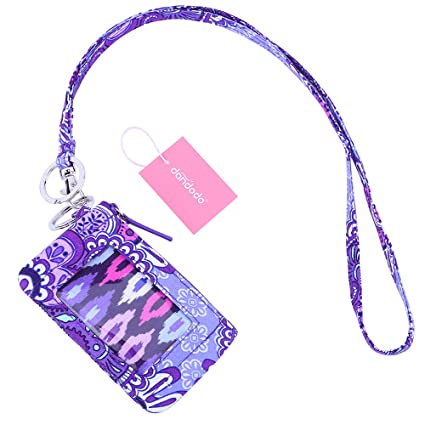 cdd32016fbd1 dandodo Card Holder ID Case Badge Neck Strap Lanyard (004Purple)