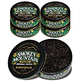 Smokey Mountain Herbal Snuff - Wintergreen - 5 Cans - no Nicotine - no Tobacco - Great Tasting and Refreshing Chewing Alternative
