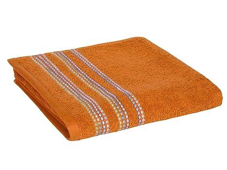 REVITEX - Toalla Rizo Telma Naranja - Lavabo 50x100 cm - 100% Algodón - Gramaje