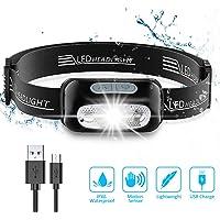 Cocoda Linterna Frontal, LED USB Recargable Linterna Cabeza