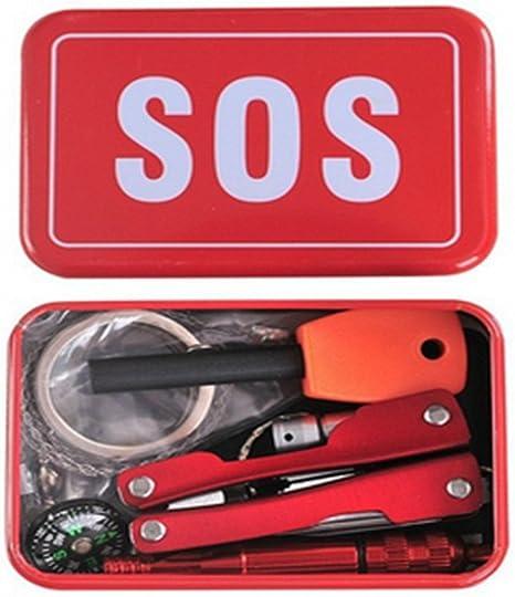 Kit de supervivencia de emergencia SOS sobrevivir Herramienta Pack ...