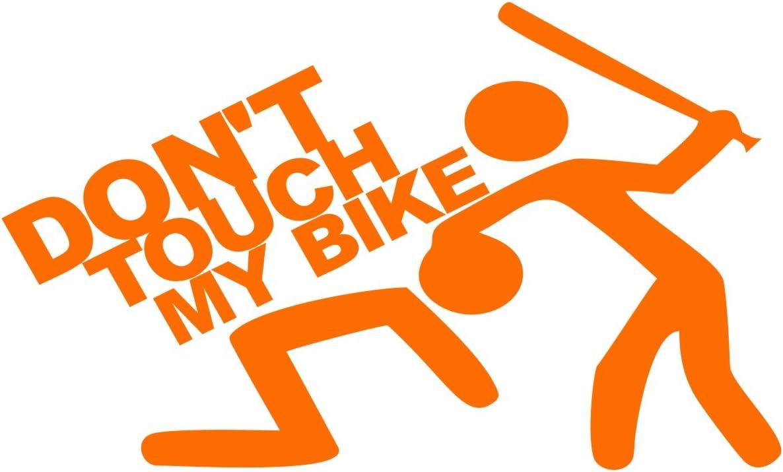 Folistick Dont Touch My Bike Aufkleber Dub Oem Motorrad Aufkleber Pastellorange Auto