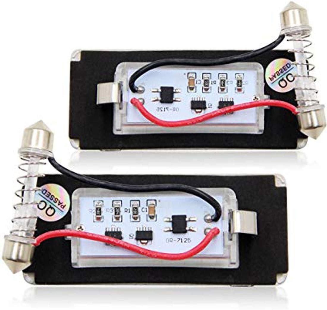 MuChangZi 2pcs Lampes pour Plaque Dimmatriculation LED pour B//MW Mini Cooper R56