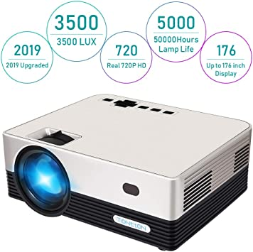 Proyector de Video Tontion 3500 Lux Real 720P -50.000 Horas LED ...