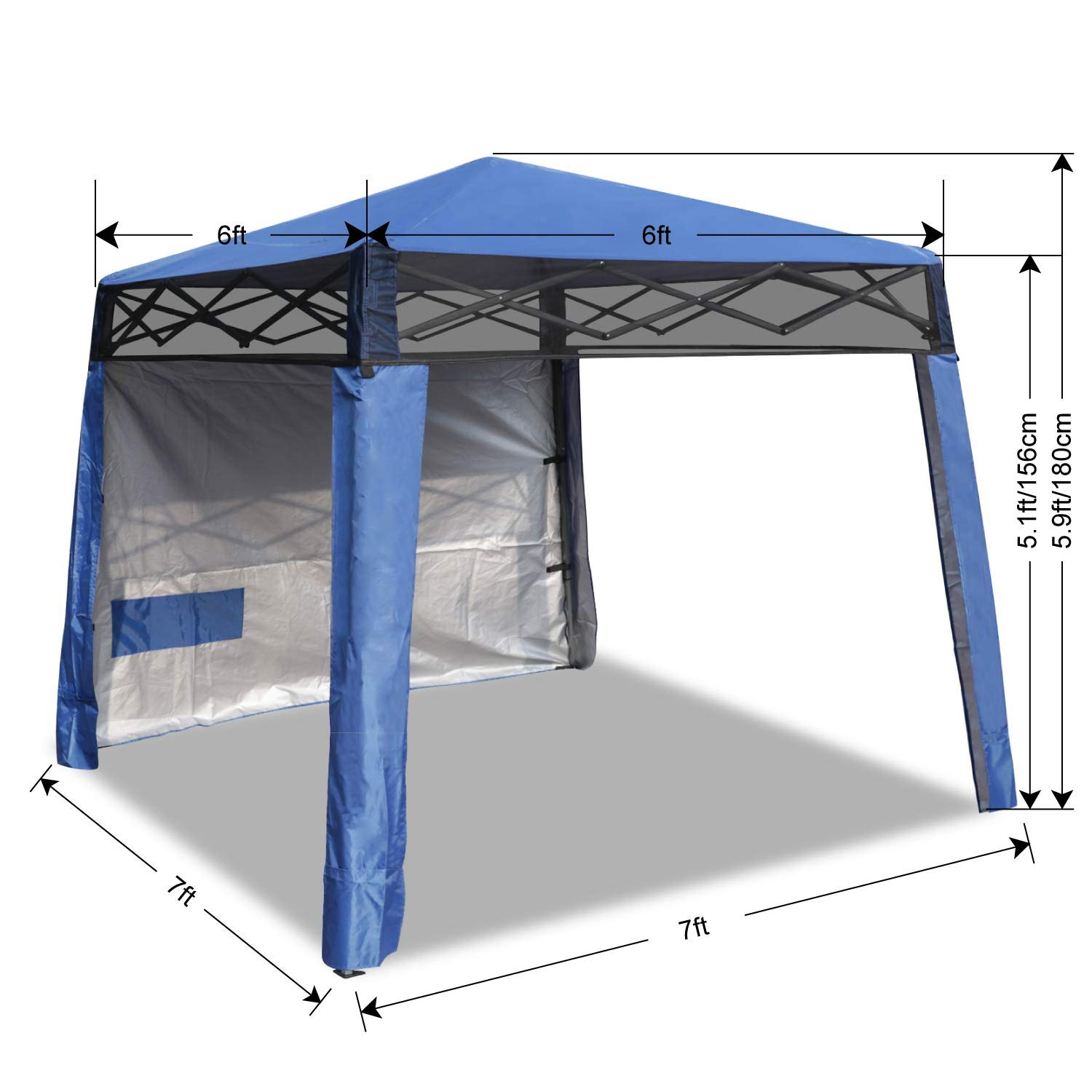 ABCCANOPY Beach Canopy Popup Canopy Tent Super Compact Canopy Tent 10x10 Canopy Sun Shelter 8x8 Canopy Outdoor 6x6 Instant Shelter,6FTX6FT,Royal Blue