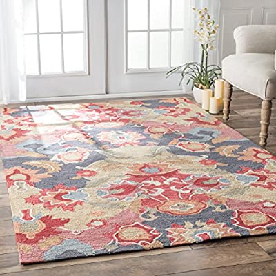 nuLOOM Felicity Hand Tufted Area Rug, 5' x 8', Multi - Style: Contemporary Color: Multi Actual Size: 5' x 8' - living-room-soft-furnishings, living-room, area-rugs - 61Vhwe5NycL. SS400  -