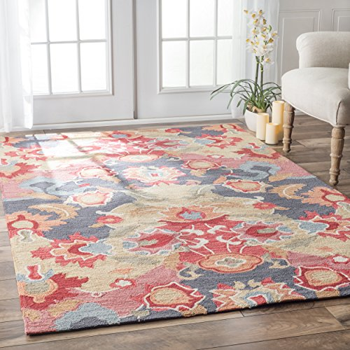 nuLOOM BHBC35A Barcelona Collection Felicity Contemporary Hand Made Area Rug, 4' x 6', Multi