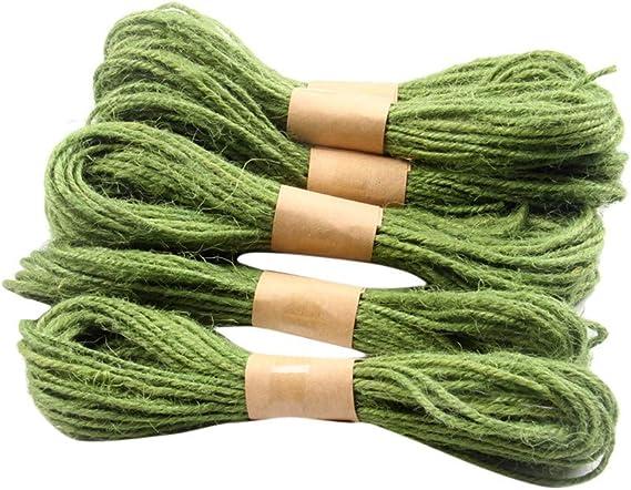 FiedFikt - Cuerda de Yute 2 mm, Cuerda de cáñamo para floristería, Regalos, Manualidades, decoración, Embalaje, jardín y Reciclaje, O, 100 * 80cm: Amazon.es: Hogar