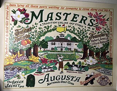 2018 Masters Golf Catstudio Poster Augusta National New