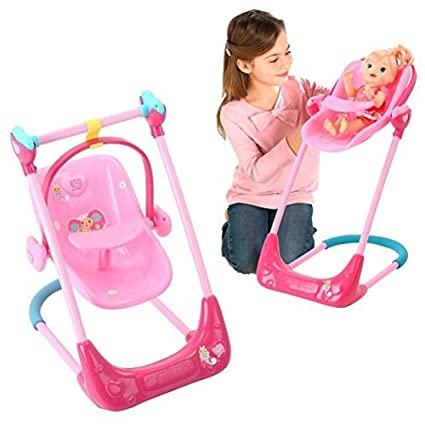 Baby Alive Swing High Chair And Car Seat 3 In 1 Combo